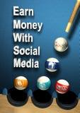 Social Media - erwerben Sie Geld lizenzfreie abbildung