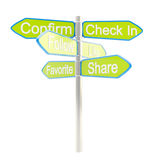 Social media are everywhere metaphore as signpost Royalty Free Stock Photo