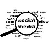 Social media in evidence Royalty Free Stock Images