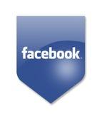 Social media facebook. Sign on white Stock Photo