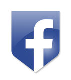 Social media facebook. Sign on white Stock Photos
