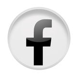 Social media facebook. Sign on white Royalty Free Stock Photo