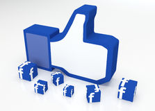 Social media  facebook  thumbs-up Royalty Free Stock Image