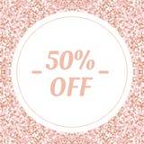 Social Media-Fahnenschablone für Ihr Blog oder Geschäft Nettes PastellDesign des rosafarbenen Rosas Stockfotografie