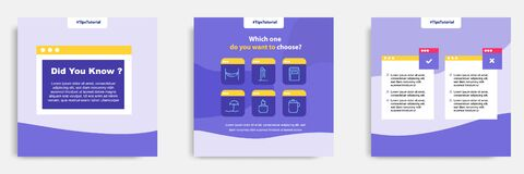 Social media faq, question, answer post banner layout template with geometric shape background and bubble message design element