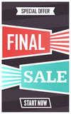 Social media final sale banner. Vector illustrations for website and mobile website banners, posters, email and newsletter designs Royalty Free Stock Photography