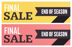 Social media final sale banner. Vector illustrations for website and mobile website banners, posters, email and newsletter designs. Ads, promotional material Royalty Free Stock Photography