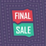 Social media final sale banner. Vector illustrations for website and mobile website banners, posters, email and newsletter designs Royalty Free Stock Photos