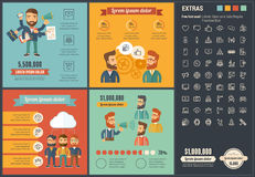 Social Media flat design Infographic Template Royalty Free Stock Photography