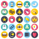 Social Media Flat Icon Set Royalty Free Stock Photography
