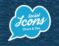 Free Social Media Flat Icons In A Speech Bubble Stock Photos - 90659973