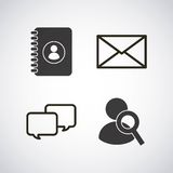 Social media flat icons. Vector illustration design Stock Photography