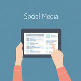 Social media flat illustration concept Royalty Free Stock Photos