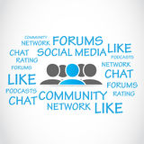 Social media forums Stock Photos