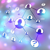 Social Media Friends Diagram Royalty Free Stock Images