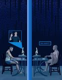 Social Media-gefälschte Profil-Identitäts-Foto-Illustration Lizenzfreie Stockfotos