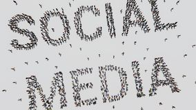 Social Media gemacht von den Leuten stockfotos