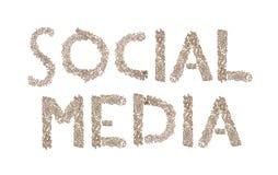 Social Media geschrieben mit kleinen Würfeln Lizenzfreie Stockbilder