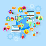 Social Media Global Communication People World Map Stock Images