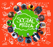 Social Media Global Communication Technology Connection Concept Royalty Free Stock Image
