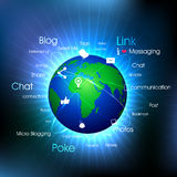 Social-Media Globe. Royalty Free Stock Images