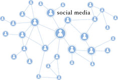 Social media graphic illustration - people connections / network Royalty Free Stock Image