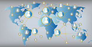 Social media graphic  illustration - world map Stock Photography