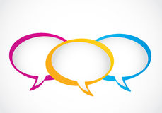 Social media group speech bubbles Stock Photo