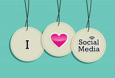 Social media hang tags label set Royalty Free Stock Photos