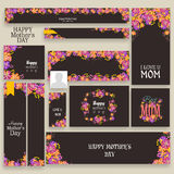 Social media header or banner for Happy Mothers Day. Stock Photo