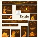 Social media header or banner for Ramadan Kareem celebration. Royalty Free Stock Photos
