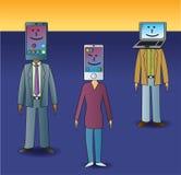 Social Media Heads vector illustration