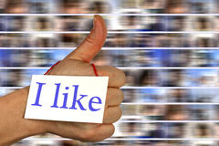 Social media i like thumb up Royalty Free Stock Images