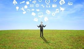 Social media icon Stock Image