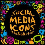 Social media icon background Stock Photography