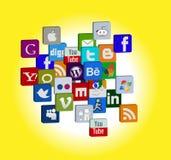 Social media icon cloud Stock Photo