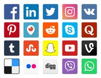 Social Media Icon Collections Set royalty free illustration