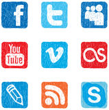 Social media icon color Stock Image