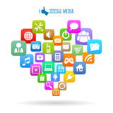 Social media icon Royalty Free Stock Photo