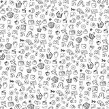 Social Media Icon pattern,background.Doodle Royalty Free Stock Image