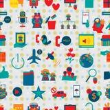 Social media icon 4 seamless pattern Stock Photo
