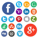 Social media icon ser Royalty Free Stock Images