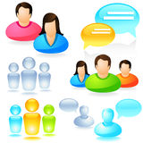 Social Media Icon set Royalty Free Stock Photography