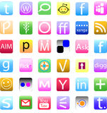 Social media icon set Royalty Free Stock Image