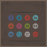 Social Media Icon Set Royalty Free Stock Photo