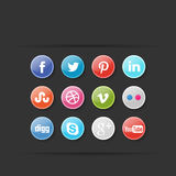 Social Media Icon Set Stock Image