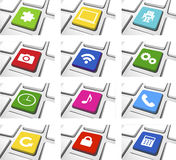 Social Media Icon Set Vector. The vector of Social Media Icon Set stock illustration