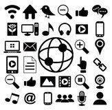 Social media icon set. Vector Stock Image