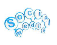 Social media icon shiny emblem isolated Royalty Free Stock Image
