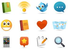 Social media icons #1 stock illustration